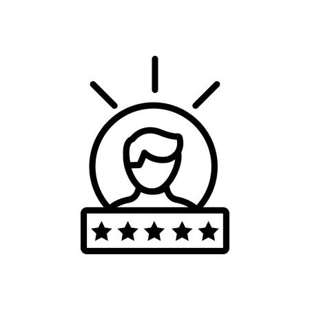 Icon for experience,feedback 向量圖像