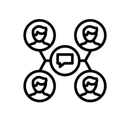 Icon for interaction,communication Ilustração