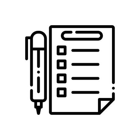Icon for rules,prescript Ilustração