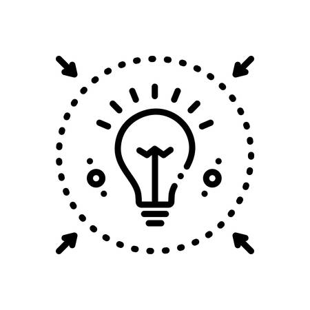 Icon for denote,enlighte 写真素材 - 128392823