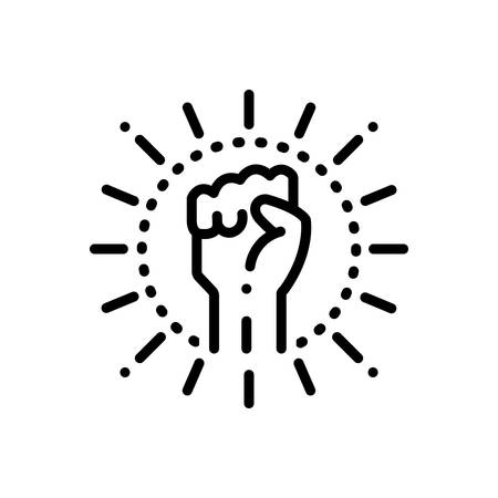 Icon for extremism,hand