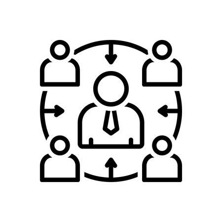 Icon for facilitator,accommodation 向量圖像