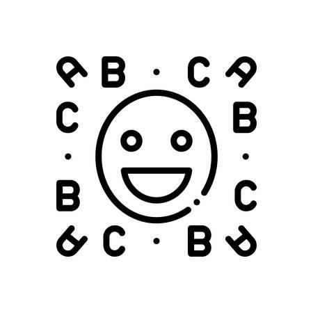 Icon for idiom,emoji  イラスト・ベクター素材