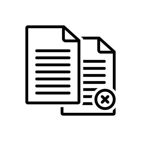 Icon for Paperless,cancel Ilustração