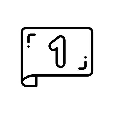 Icon for Page number,count