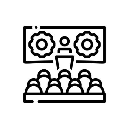 Icon for Workshop,seminar Stock Illustratie