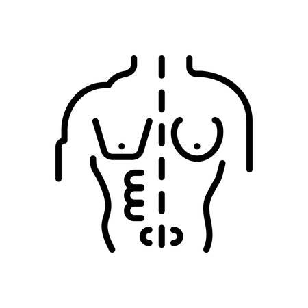 Icon for Body,corporality Standard-Bild - 128412705