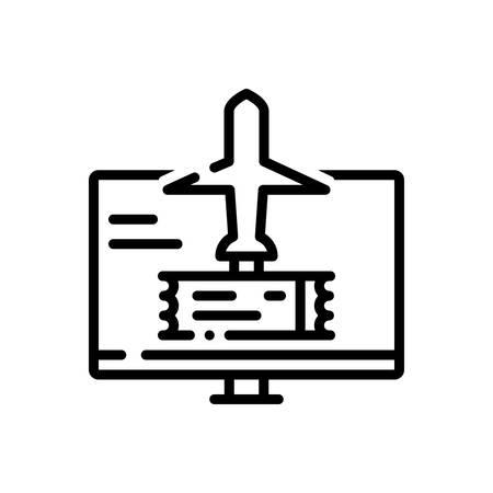 Icon for Booking,travel Ilustração