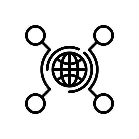 Icono de redes, tecnología