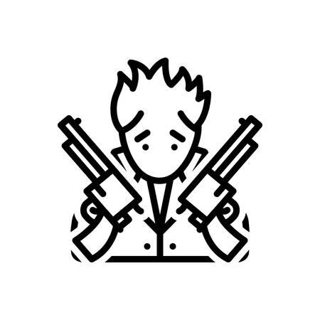 Icon for Perk,gun 일러스트