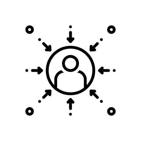 Icon for Prejudice, bias Иллюстрация
