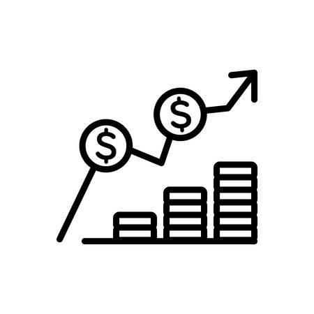 Icono de costo, gasto