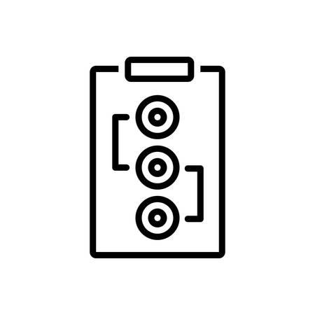 Icon for Plan,scheme Archivio Fotografico - 128324866