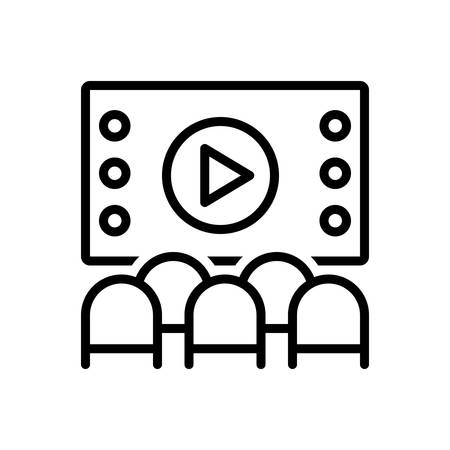 Icon for Theater,playhouse Stock Illustratie