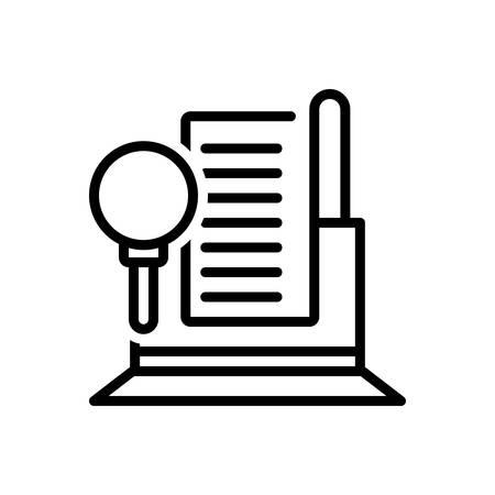 Icon for Audit,finance Zdjęcie Seryjne - 128324880