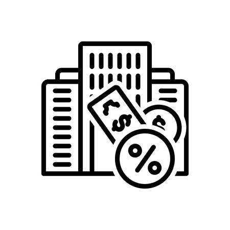 Icon for Taxation,finance Stock Illustratie
