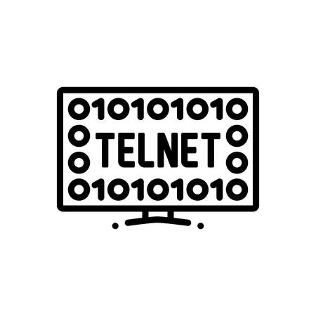 Icon for Telnet,network Иллюстрация
