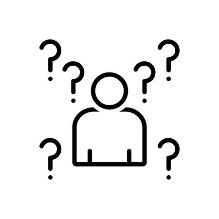 Icon for Whois,unfamiliar 向量圖像