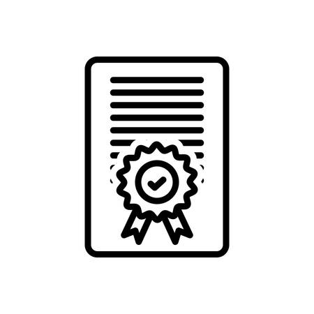 Icon for Accreditation,certificate Ilustrace