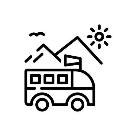 Icono de viaje, paseo Ilustración de vector