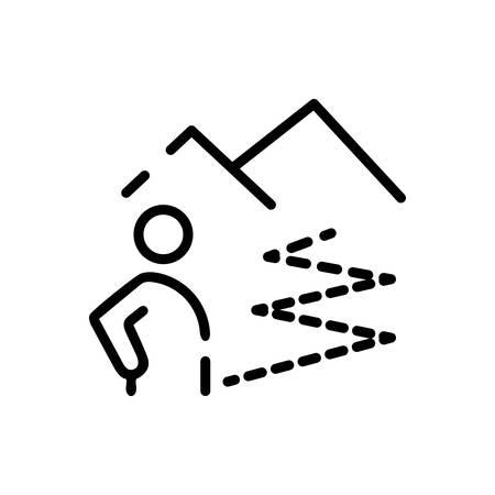 Icon for Distance,location Standard-Bild - 128325281
