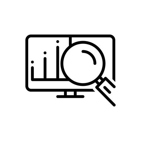 Icon for actuarial,magnifying