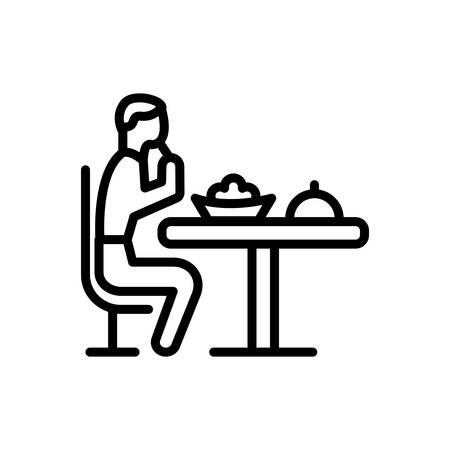 Icon for Eat,swallow  イラスト・ベクター素材