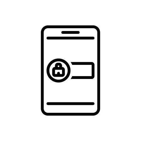 Icon for signin,admission Stock Illustratie