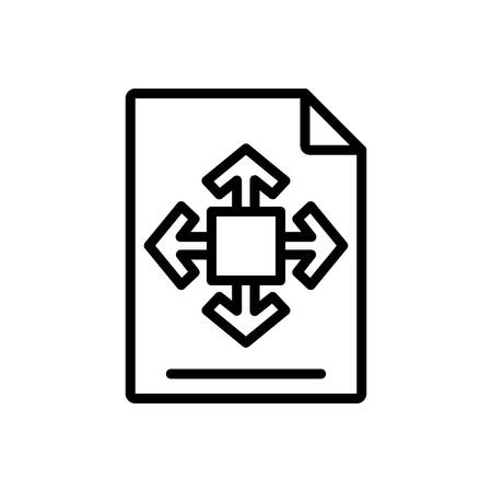 Icon for size,shape Ilustração