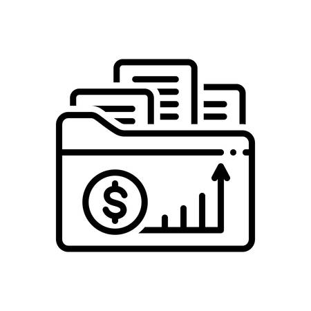 Icon for business,documents 일러스트