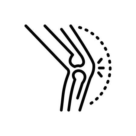 Icon for arthritis,rheumatism Vector Illustration