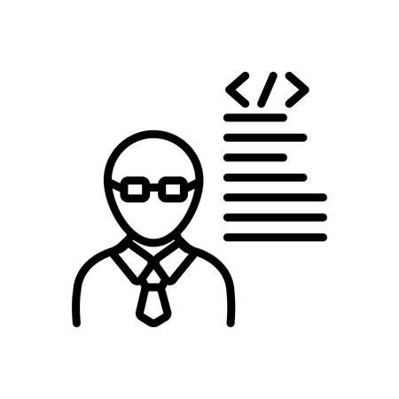 Icon for developer,programmer Illustration