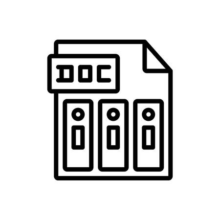 Icon for doc,reports Illusztráció