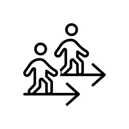 Icon for go,walk Ilustrace