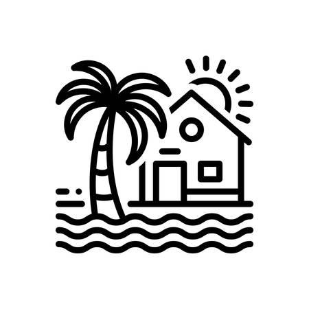 Icon for beach house Иллюстрация