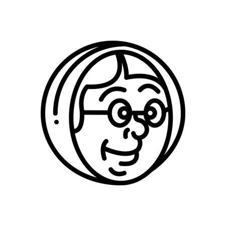 Icon for babushka,matryoshka Illustration