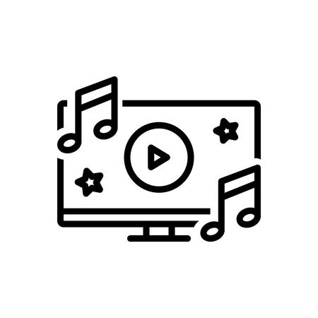 Icon for music,video