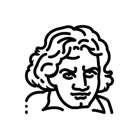 Icon for beethooven,logo Ilustração