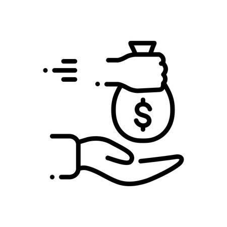 Icon for borrowed,loan Ilustracja