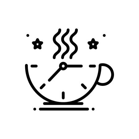Icon for breaktime,relaxing  イラスト・ベクター素材