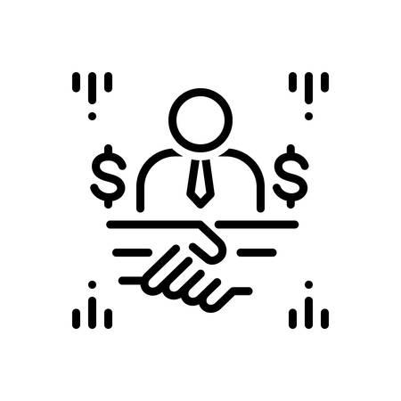 Icon for brokerage,broking Stock Vector - 128542718