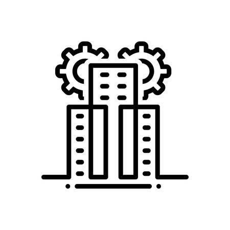 Icon for build,construction Illusztráció