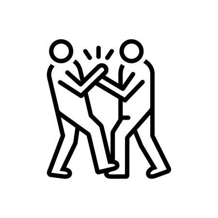 Symbol für Mobbing, Missbrauch