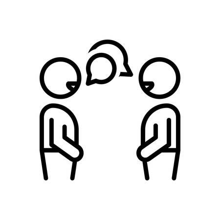 Icono de conversación, charla