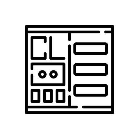 Icon for catalog,list Иллюстрация
