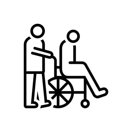 Icon for caregivers,caretaker Illustration