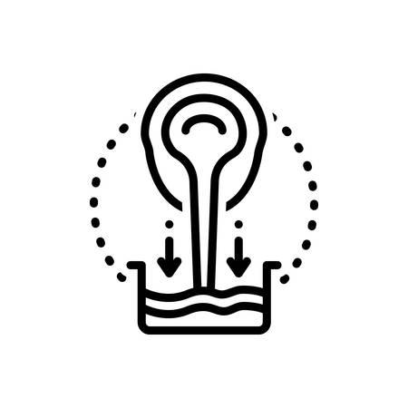 Icon for castiron,pouring
