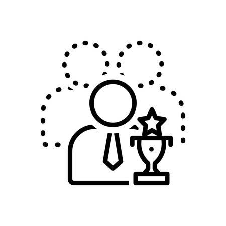 Icon for capable,competent Vektoros illusztráció