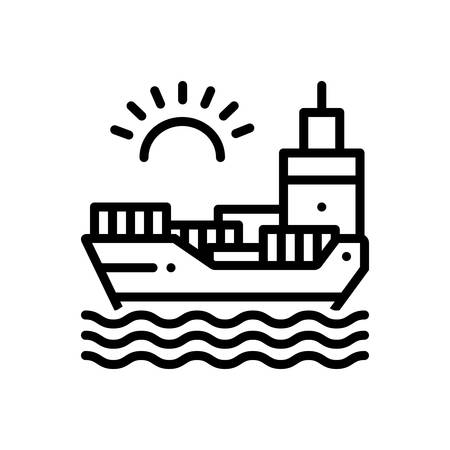 Icon for chartering,ocean Çizim