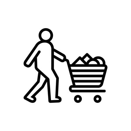 Icon for consumable,acquisition Illustration